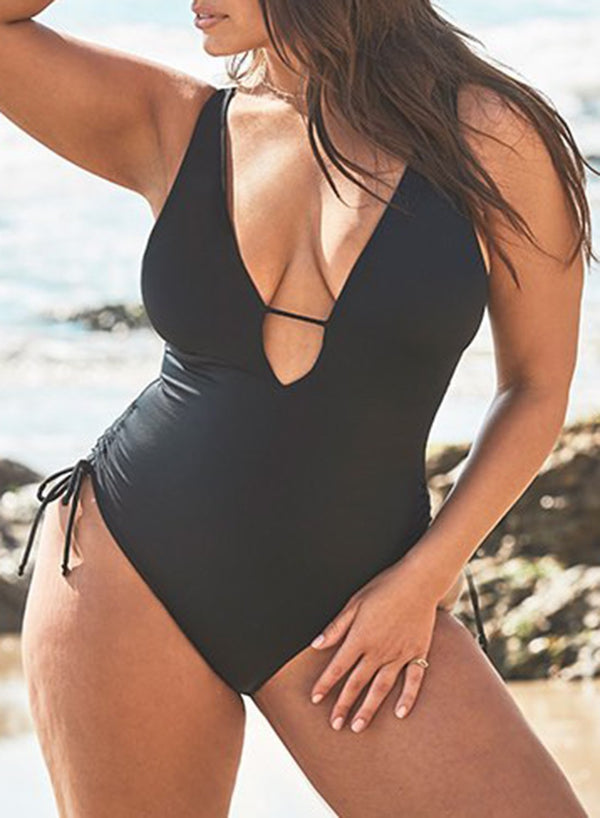 A-LIST PLUNGE ONE PIECE SWIMSUIT