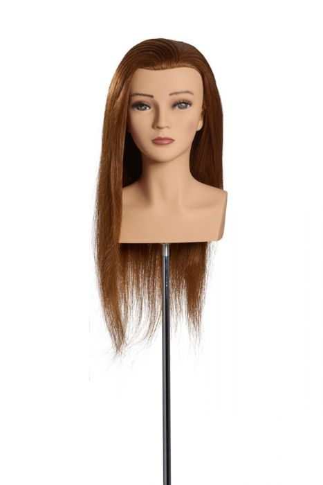 L'IMAGE MANNEQUIN HEAD MALIN OMC - 50 cm/20 inch indian human hair, medium blonde