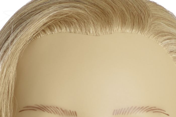 MANNEQUIN HEAD CAROLA - 35 cm/14 inch indian human hair, platinum blond