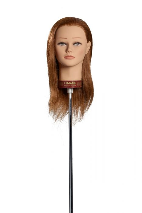 MANNEQUIN HEAD HANNA - 35 cm/14 inch indian human hair, medium blond