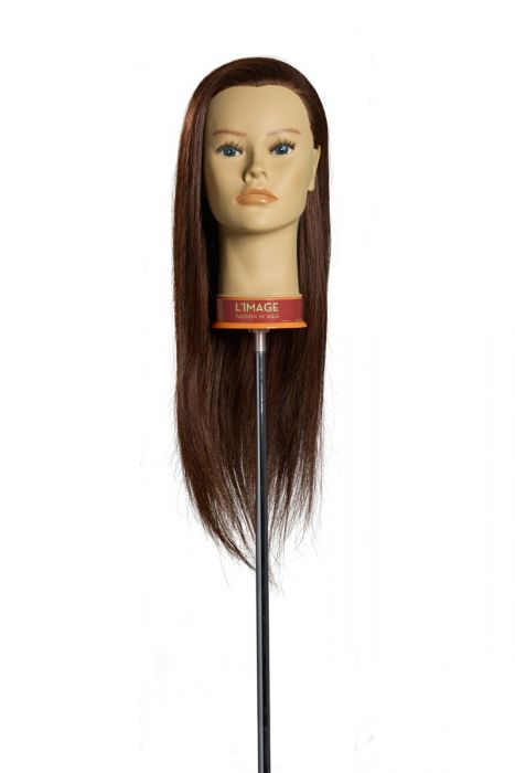 MANNEQUIN HEAD LISA - 50 cm/20 inch chinese human hair, dark blond