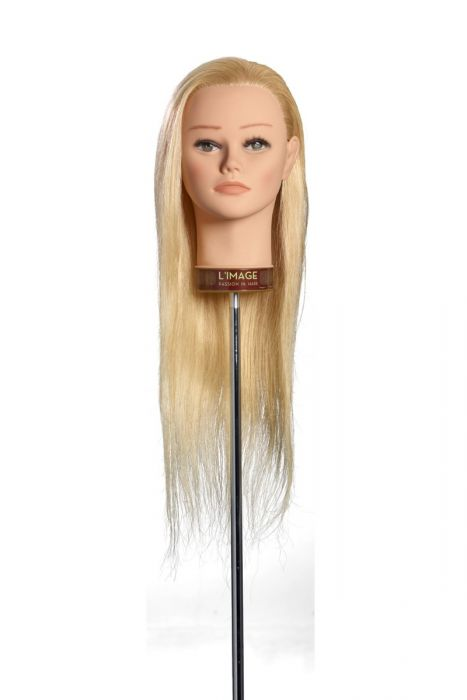 MANNEQUIN HEAD PERRINE - 50 cm/20 inch european human hair, platinum blond