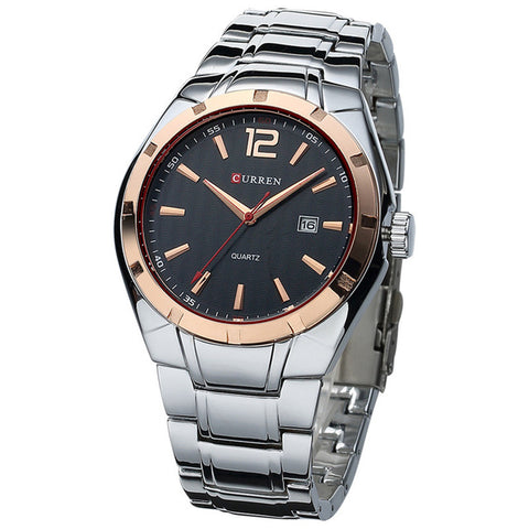 Luxury Brand Watches Men Full Steel Strap Analog Casual