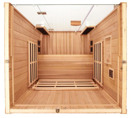 2 Person Full Spectrum Clearlight Infrared Sauna Sanctuary 2 - Heavenly Skin HQ
