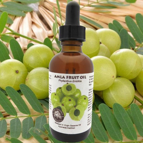 Amla Oil strengthens hair, reduce premature pigment loss from hair, or greying, stimulate hair growth, reduce hair loss, dandruff ... - Heavenly Skin HQ