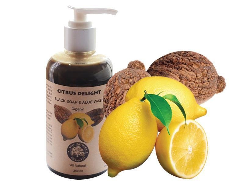 Citrus Delight. Black Soap & Aloe Wash (Organic) - Heavenly Skin HQ