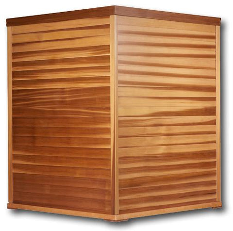 Clearlight Premier IS-C Three Person Far Infrared Corner Sauna - Heavenly Skin HQ