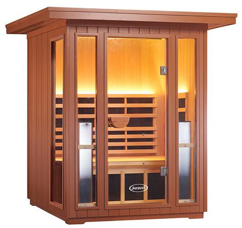 Image of Clearlight Sanctuary Outdoor 2 Full Spectrum Four - 2 Person Infrared Outdoor Sauna - Heavenly Skin HQ