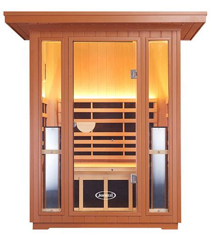 Clearlight Sanctuary Outdoor 2 Full Spectrum Four - 2 Person Infrared Outdoor Sauna - Heavenly Skin HQ