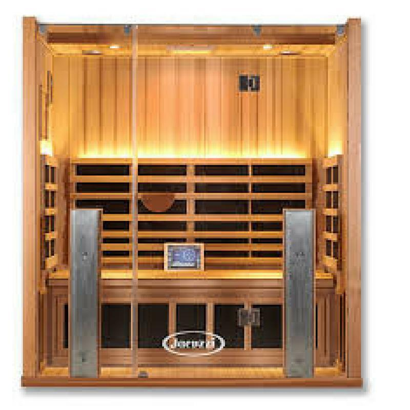Clearlight Sanctuary Retreat Full Spectrum Four Person ADA Compliant Infrared Sauna - Heavenly Skin HQ
