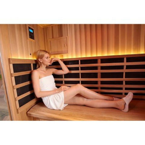 Image of Clearlight Sanctuary Retreat Full Spectrum Four Person ADA Compliant Infrared Sauna - Heavenly Skin HQ
