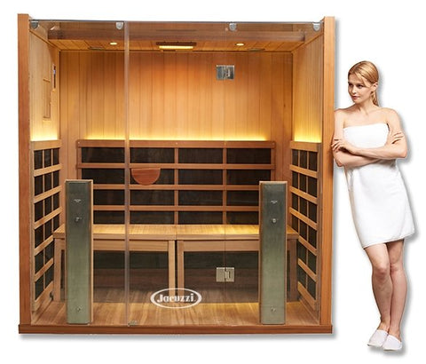 Image of Clearlight Sanctuary Y Hot Yoga Full Spectrum Four Person Infrared Sauna - Heavenly Skin HQ