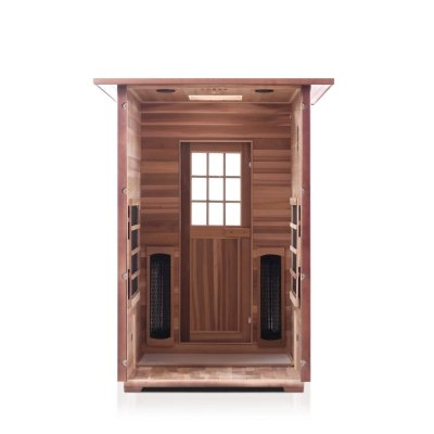 Enlighten Sierra - 2 Person Full Spectrum Outdoor Infrared Sauna - Heavenly Skin HQ
