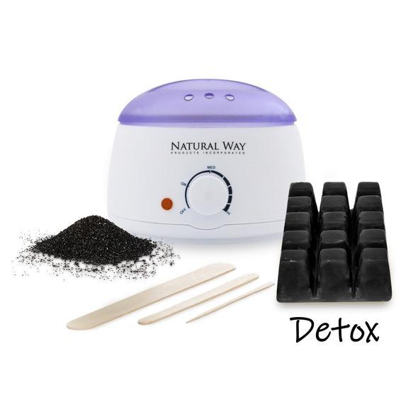 Hard Wax Warmer Full Body Hair Removal Kit -Activated Charcoal Formula - Heavenly Skin HQ