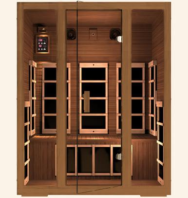 JNH Freedom 3 Person Infrared Sauna Labor Day Sale (Save $600) - Heavenly Skin HQ
