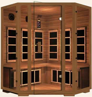 Image of JNH Freedom 4 Person Corner Infrared Sauna Labor Day Sale (Save $800) - Heavenly Skin HQ