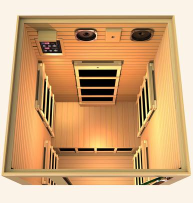 Image of JNH Lifestyles Joyous 1 Person Infrared Sauna Fall Sale (Save $400) - Heavenly Skin HQ