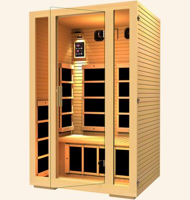 Image of JNH Lifestyles Joyous 2 Person Infrared Sauna Fall Sale (Save $400) - Heavenly Skin HQ