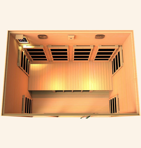 Image of JNH Lifestyles Joyous 4 Person Infrared Sauna Fall Sale (Save $900) - Heavenly Skin HQ