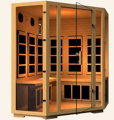 JNH Lifestyles Joyous Corner 4 Person Infrared Sauna Fall Sale (Save $850) - Heavenly Skin HQ