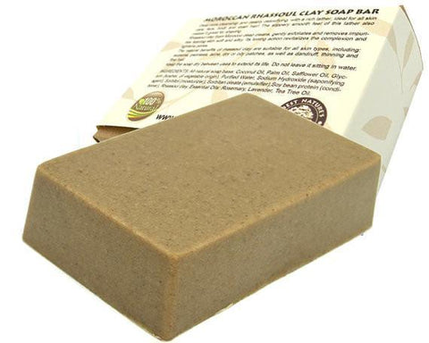Moroccan Rhassoul clay soap bar. All Natural SLS Free 120 g. - Heavenly Skin HQ