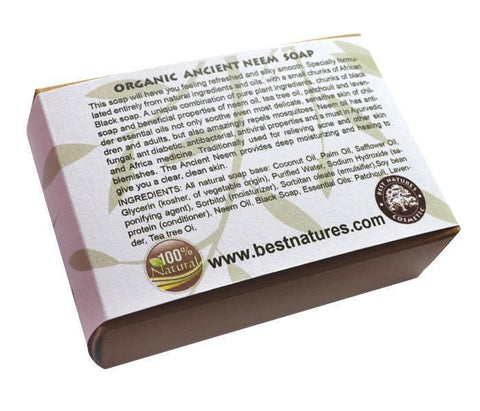 Organic Ancient Neem Soap. All Natural SLS Free 120g - Heavenly Skin HQ