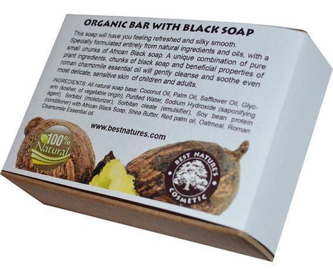 Organic Bar with Black Soap. All Natural SLS Free 120g. - Heavenly Skin HQ