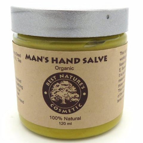 Organic Man's Hands Salve for hard working man hands, extremely dry skin, sooth dry, chapped, calloused working hands... 4oz / 120ml - Heavenly Skin HQ