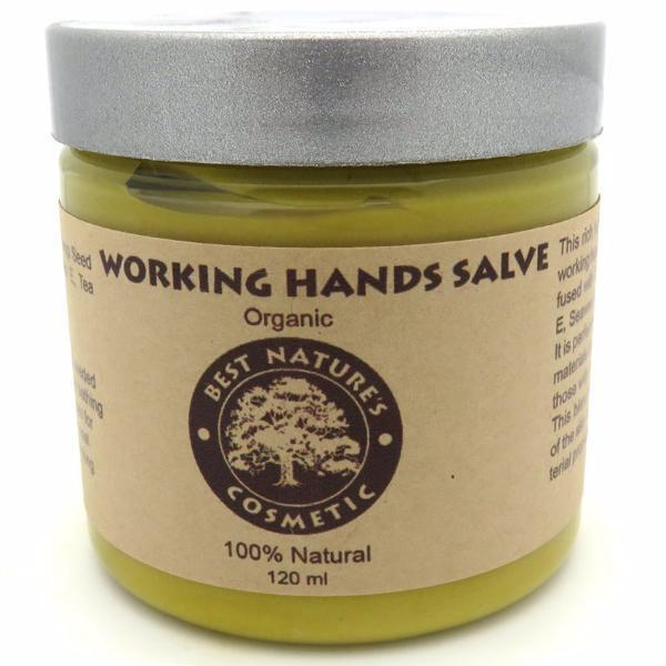 Organic Working Hands Salve for hard working hands, will sooth dry, chapped, calloused working hands... 4oz / 120ml - Heavenly Skin HQ