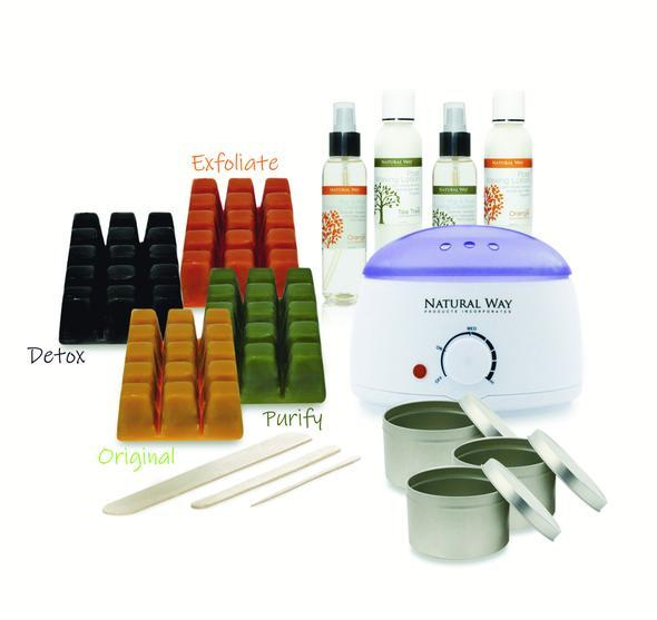 Professional Hard Wax Hair Removal Warmer Kit - All Formulas - 100% Natural - Heavenly Skin HQ