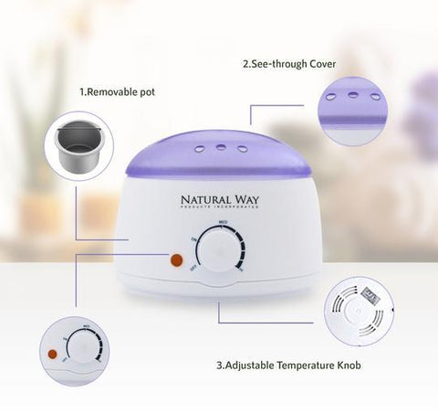 Image of Professional Hard Wax Hair Removal Warmer Kit - All Formulas - 100% Natural - Heavenly Skin HQ
