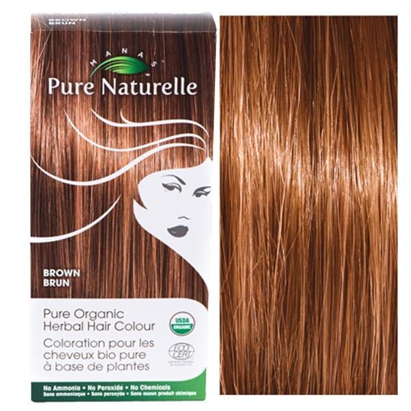 Pure Organic Herbal Hair Colour: BROWN by Manas PURE NATURELLE - Heavenly Skin HQ