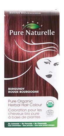 Pure Organic Herbal Hair Colour: BURGUNDY by Manas PURE NATURELLE - Heavenly Skin HQ