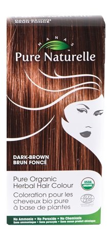Image of Pure Organic Herbal Hair Colour: DARK BROWN by Manas PURE NATURELLE - Heavenly Skin HQ
