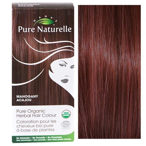 Pure Organic Herbal Hair Colour: MAHOGANY by Manas PURE NATURELLE - Heavenly Skin HQ