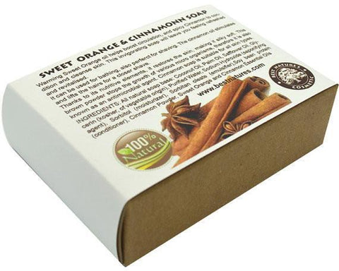 Image of Sweet Orange & Cinnamon Organic Soap. All Natural SLS Free 120g. - Heavenly Skin HQ