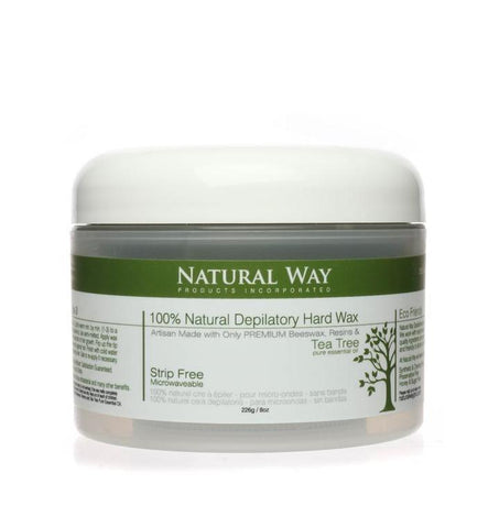 Image of Tea Tree Essential Oil Hard Wax Microwaveables 2.5oz, 4oz, 8oz, 24oz - Heavenly Skin HQ