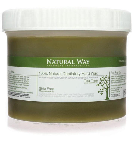 Tea Tree Essential Oil Hard Wax Microwaveables 2.5oz, 4oz, 8oz, 24oz - Heavenly Skin HQ