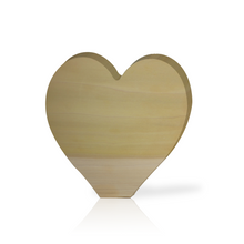 Large Heart Wood Block
