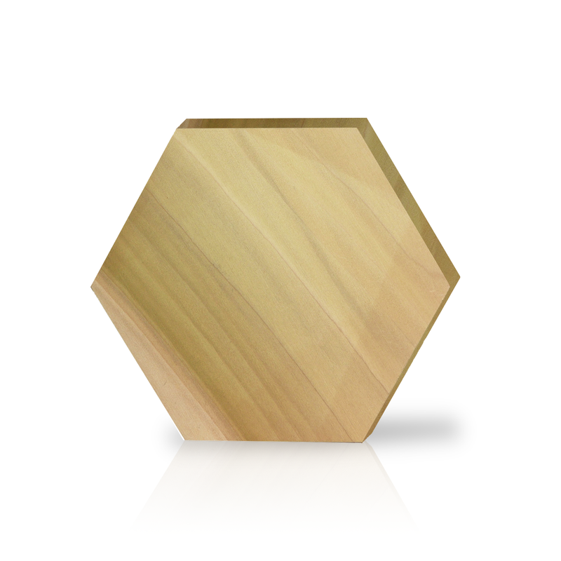 Large Hexagon Wood Block