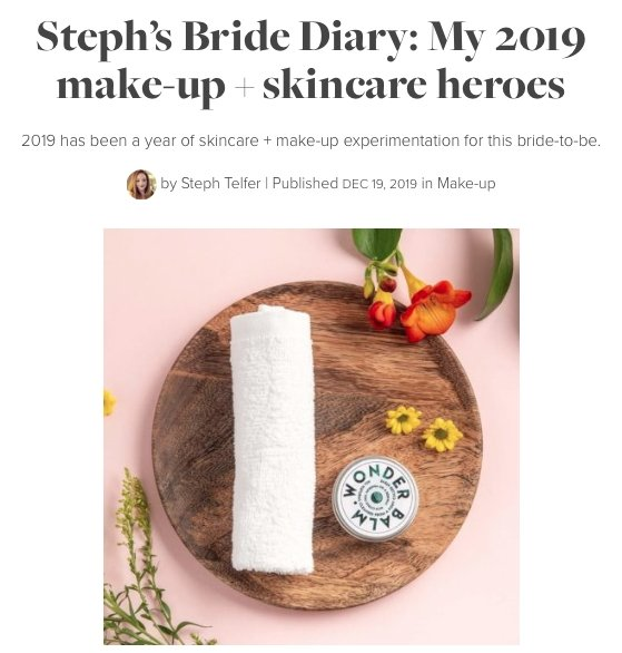 Scottish Wedding Directory - Steph's Bride Diary | The Clean Beauty Club