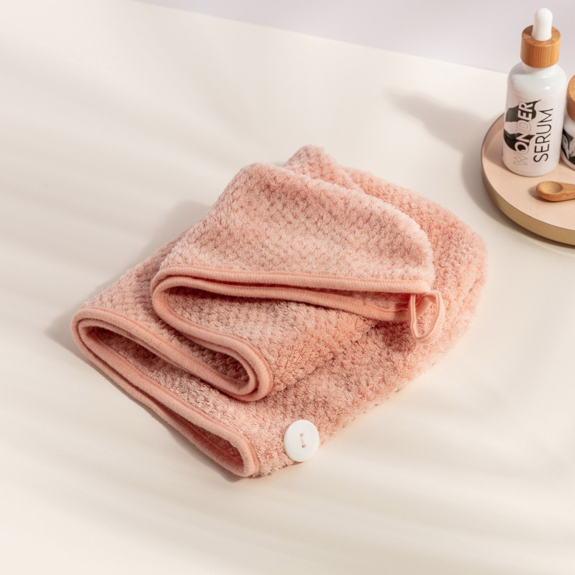 Pink Hair Towel Turban - The Clean Beauty Club