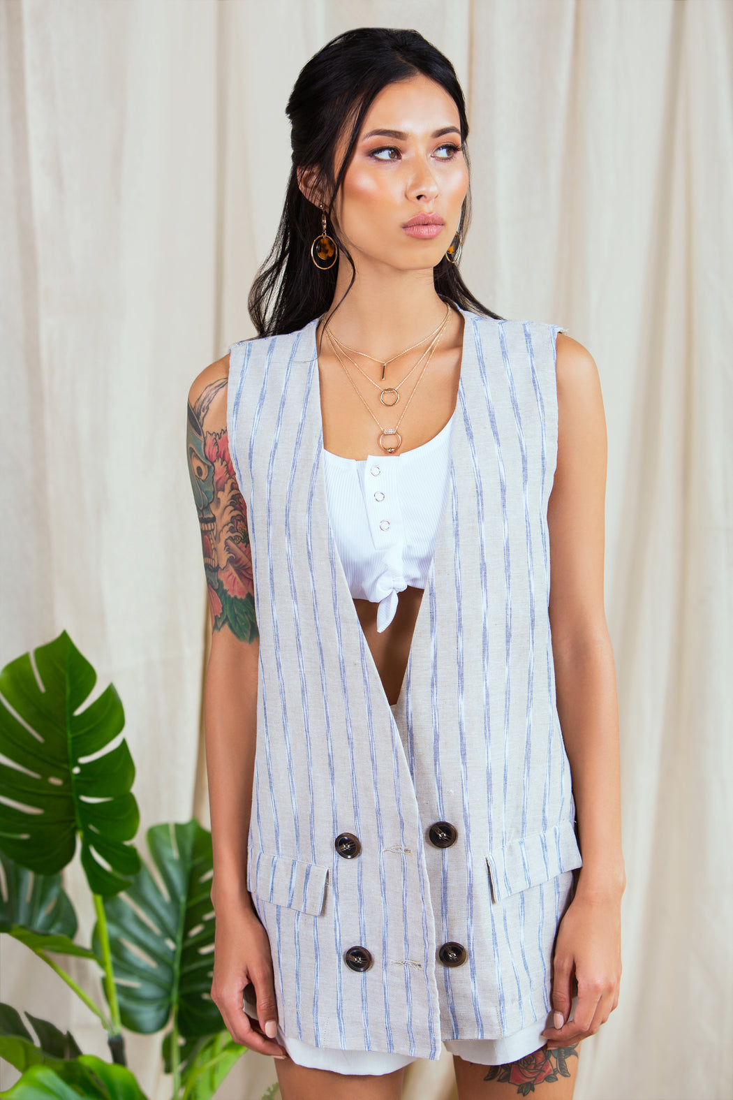 Sally Longline Waistcoat Jacket - Lavand Stories