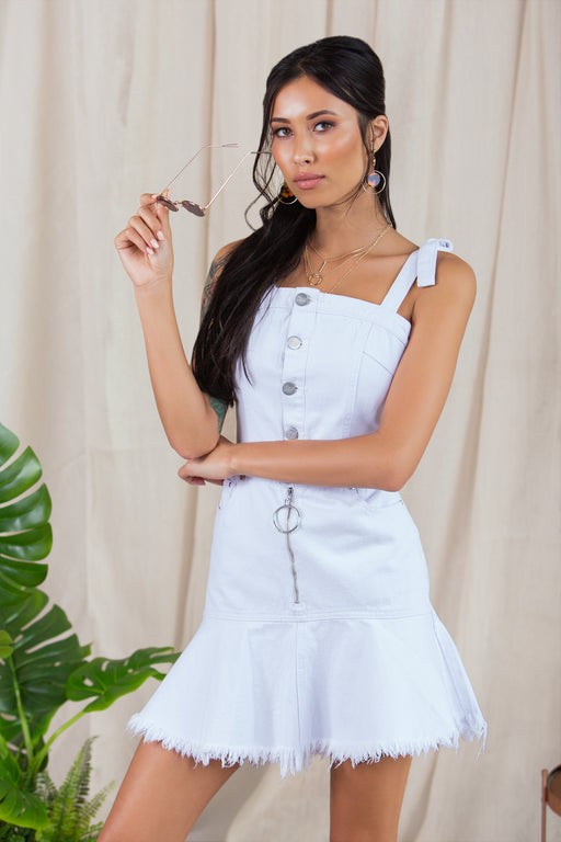 Denise White Denim Dress