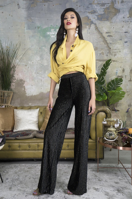 Katerina Black High Waisted Trousers - Lavand Stories