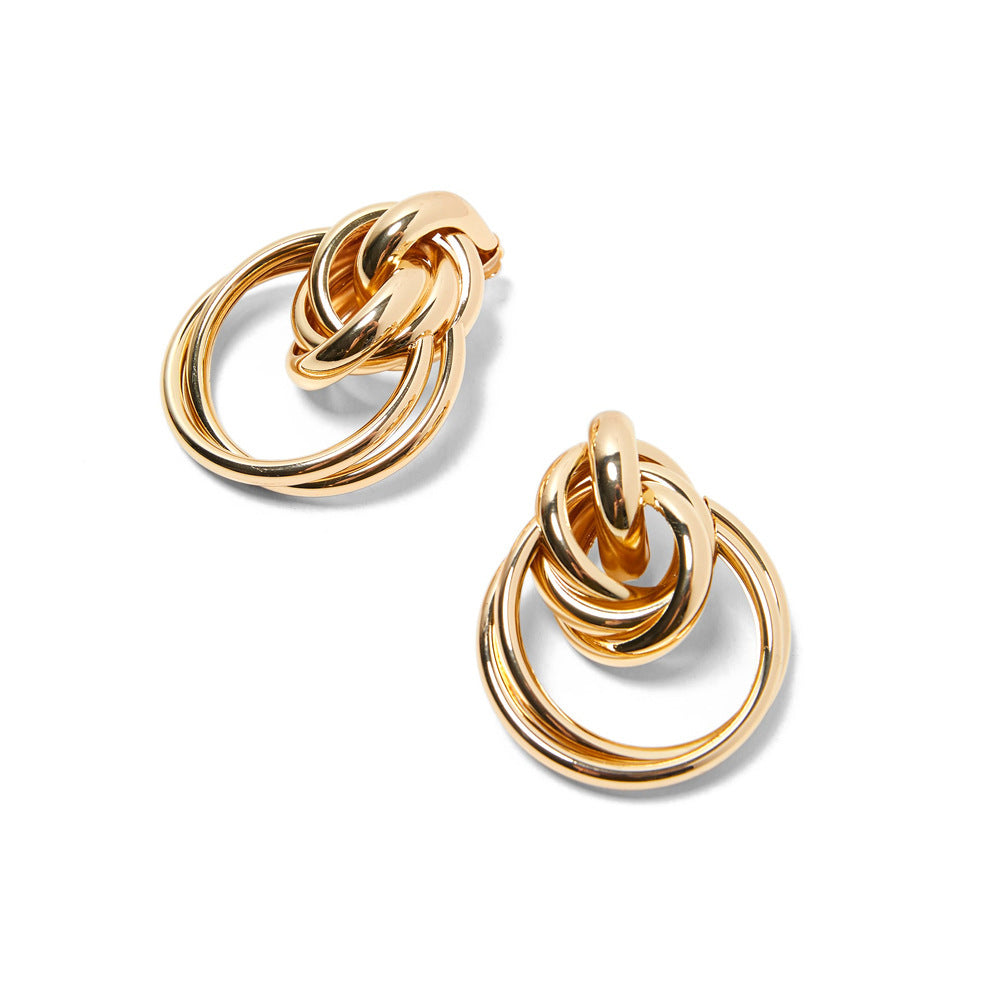 Madeline Gold Knot Drop Earrings - Lavand Stories