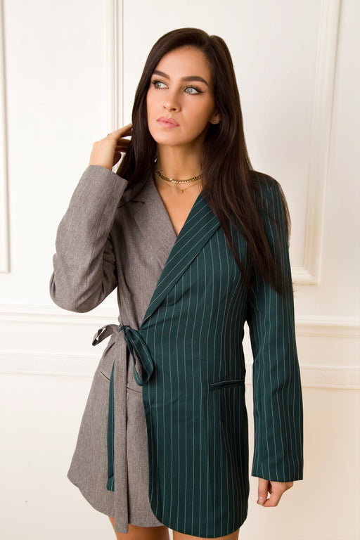 Two Faced Green Blazer Dress