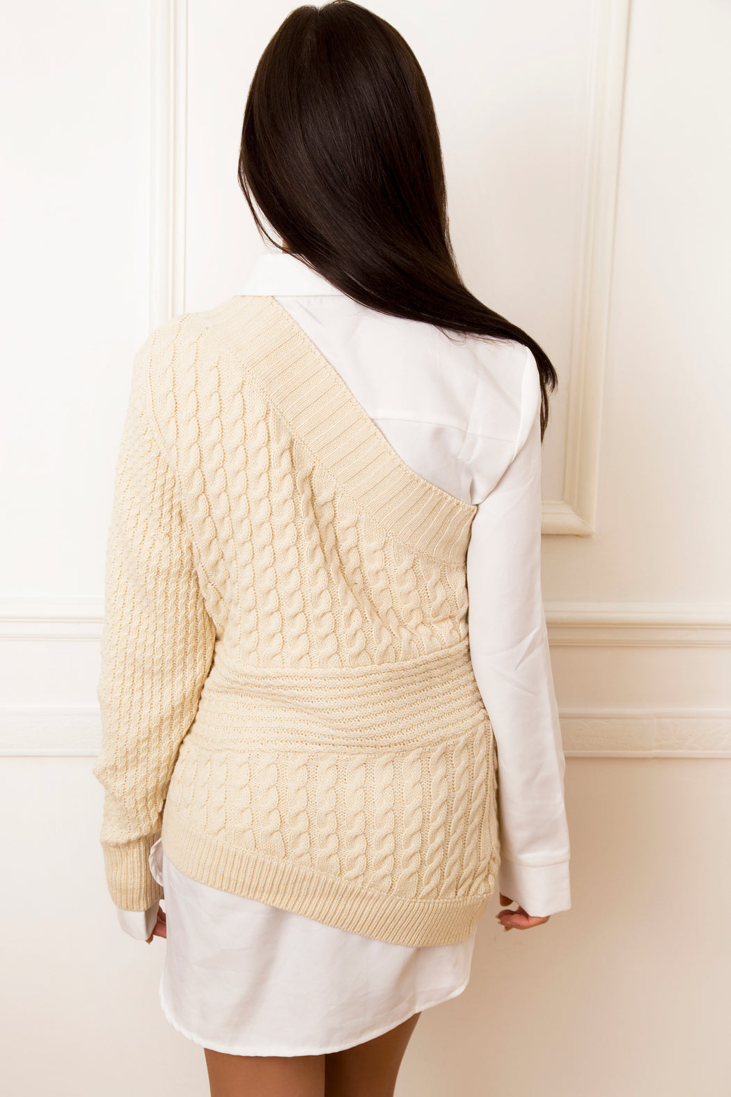 Lexi One Shoulder Cable Knit Jumper - Lavand Stories
