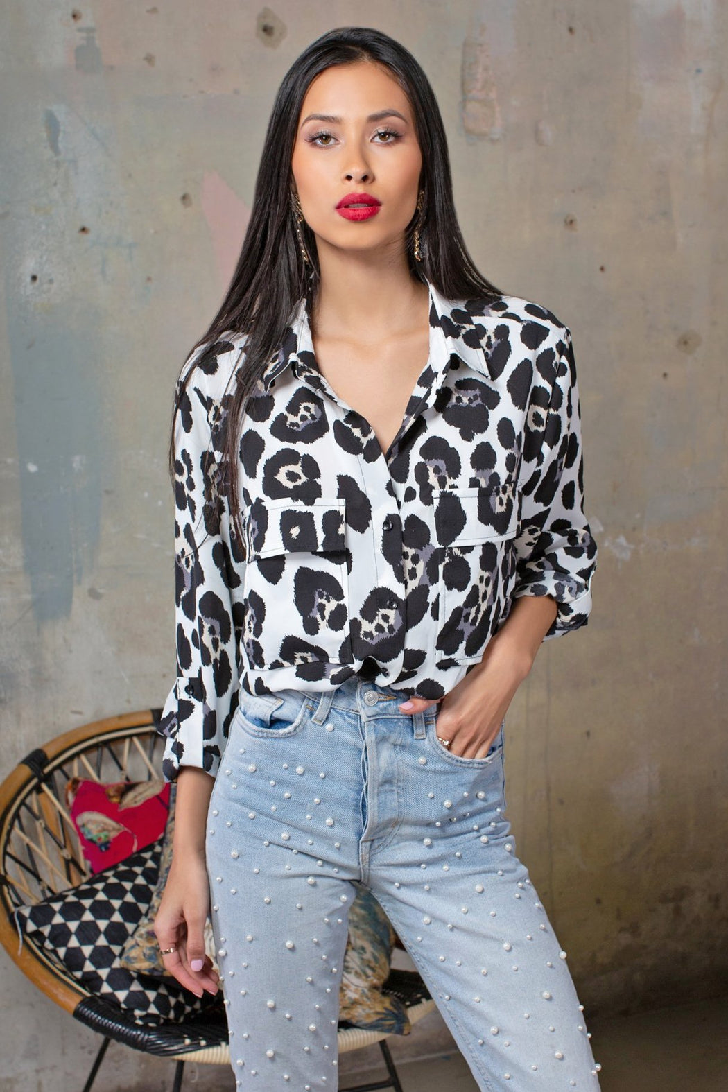 Leopard Print Blouse - Lavand Stories