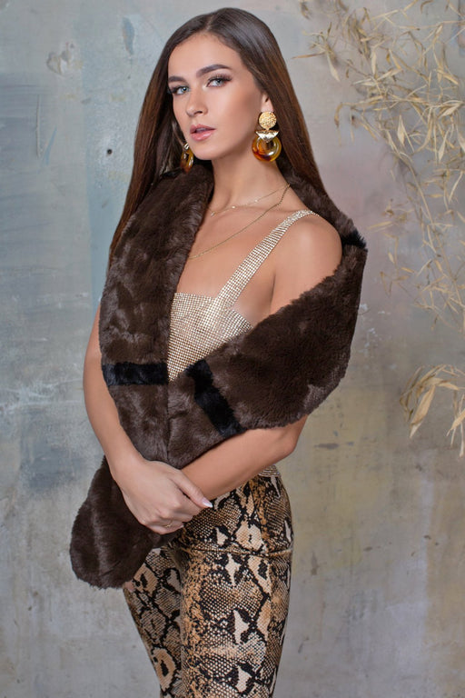 Tammy Brown Faux Fur Scarf - Lavand Stories